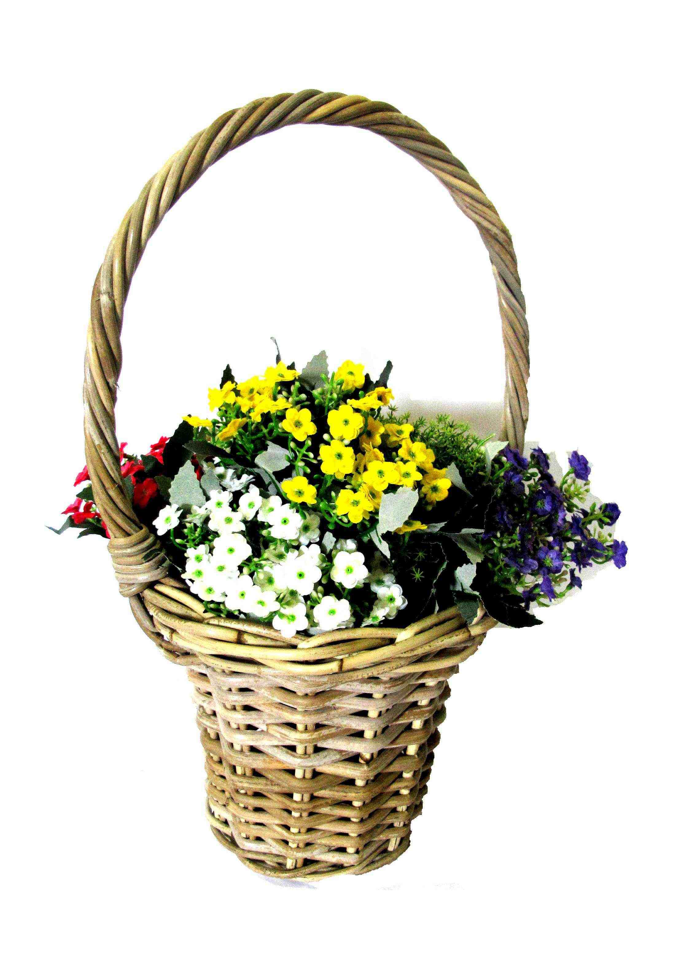 Images Of Flower Baskets : Rattan grey kubu kobo basketwares basketry