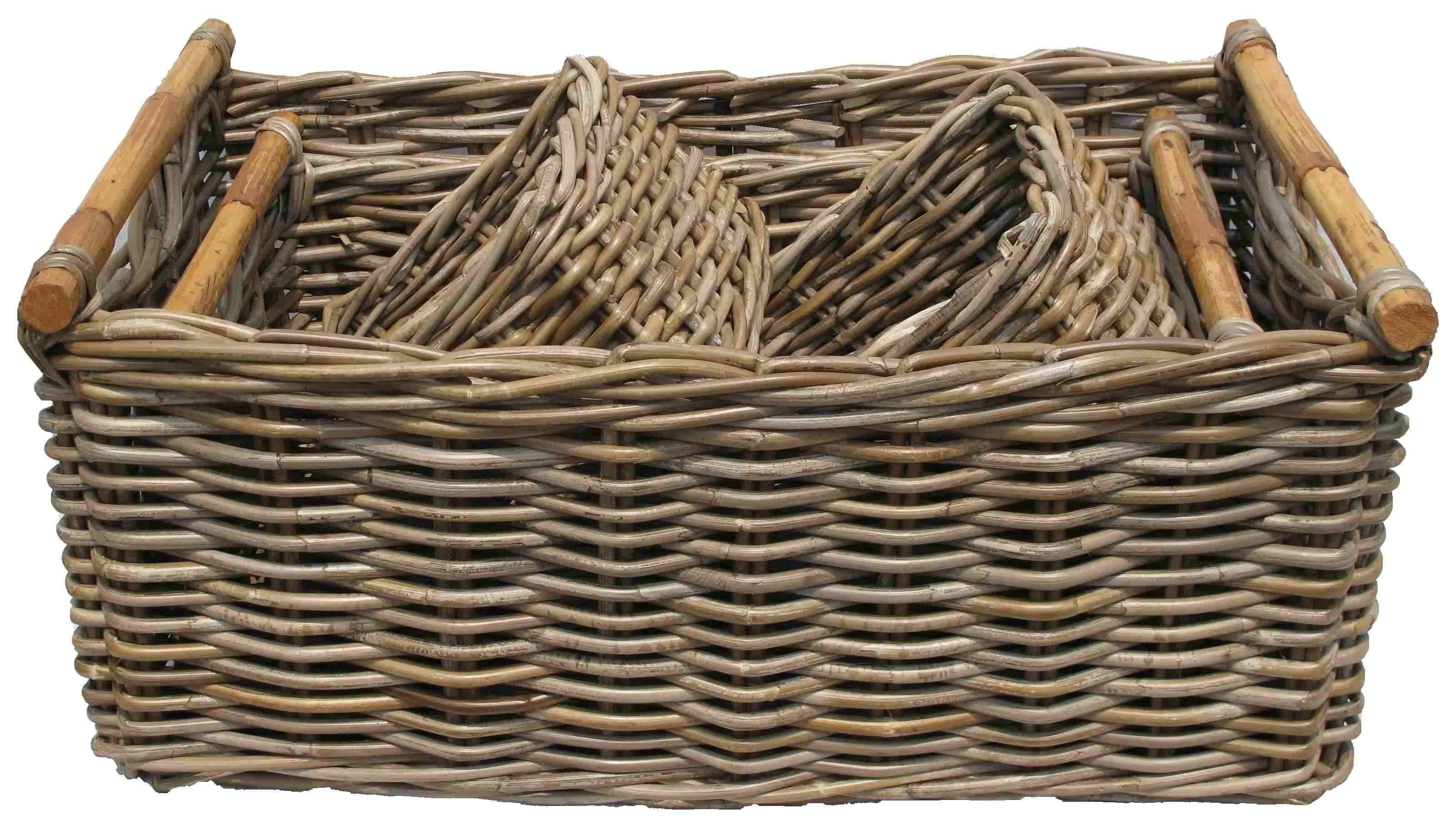 LAUNDRY BASKET KUBU GREY   STORAGE BASKET KUBU GREY