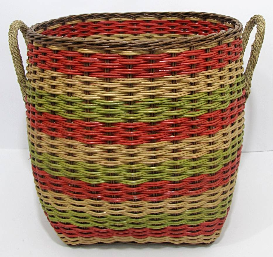 rattan wicker storage baskets